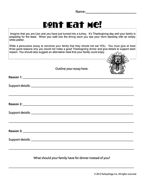 Persuasive Essay Worksheets & Activities